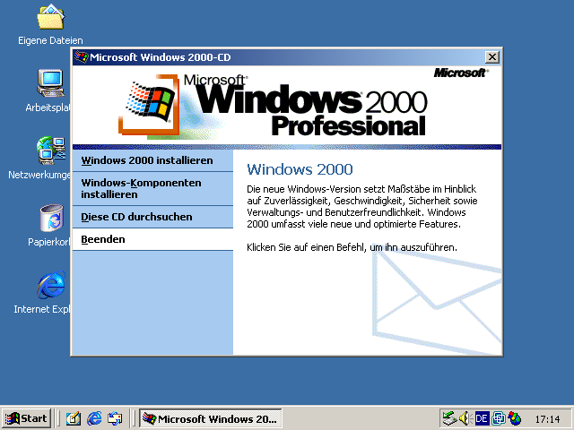 Windows 2000 Professional Autorun