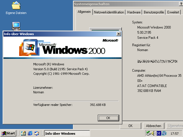 Über den Windows 2000 Advanced Server
