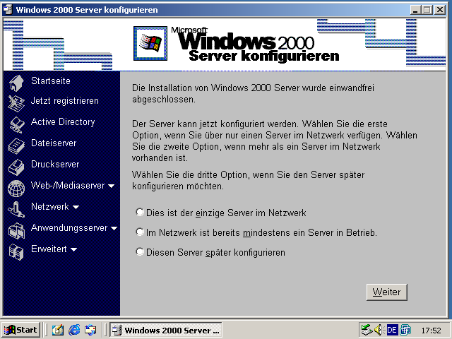 Windows 2000 Serverassistent
