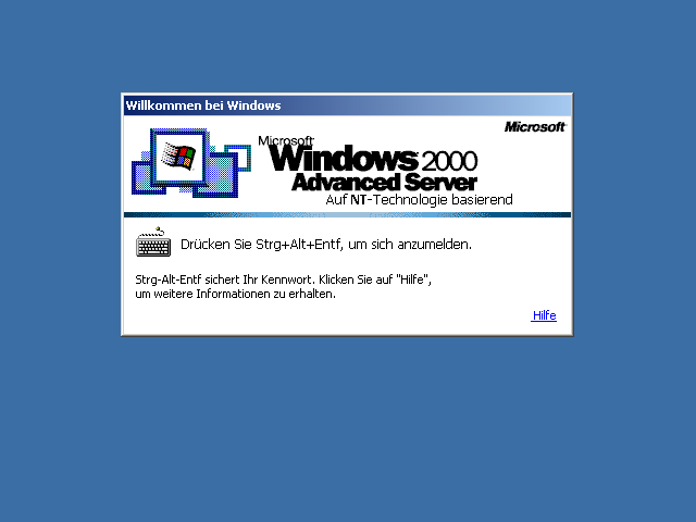 Windows 2000 Advanced Server Logon
