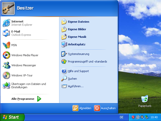 XP Startmenü